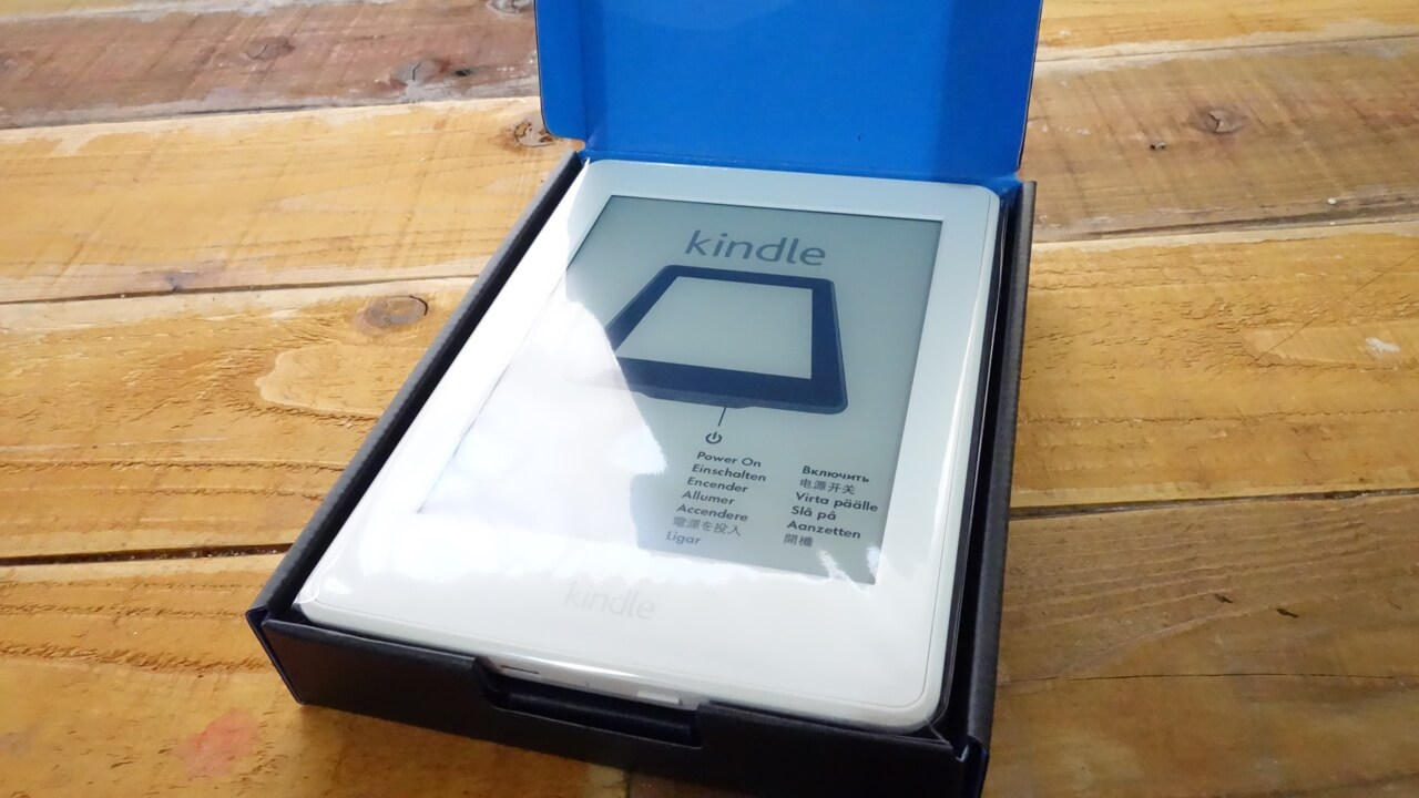 Kindle Paperwhite開封